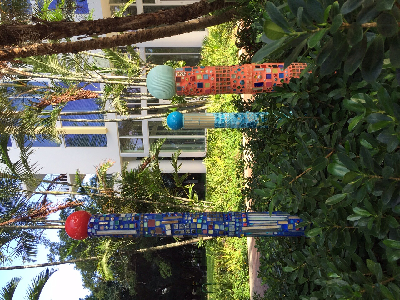 Mosaic poles