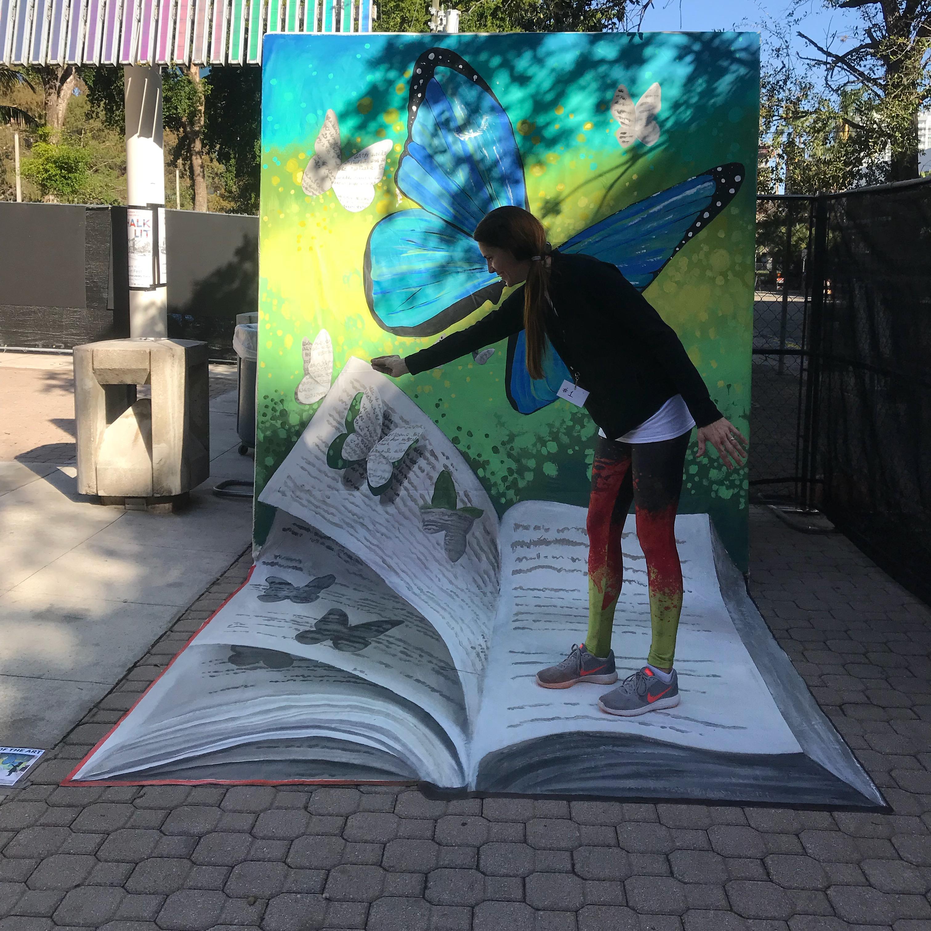 Chalk Lit 3D piece by Hector Diaz & Nate Baranowski